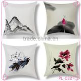 custom cotton and linen pillow Europe and the United States hot sale Chinese landscape painting