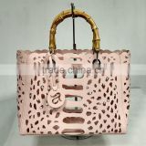 hollow carved shenzhen handbag, handbag bamboo handles wholesale