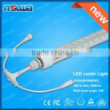 TUV-CE,SAA cabinet connecting fitting , T8 led tube V-shaped display case lighting fixtures