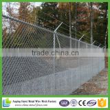 Galvanised standard 1.8m high cyclone wire fence with barbed top for AU