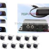 Best LCD parking sensor heavy duty parking lot sensor system with camera with 0.3-5m sensor detection