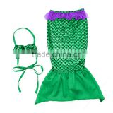 Boutique baby girls swimwear accept customized mermaid tail with monofin swim