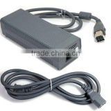 Grey/Black AC Power Adapter for XBOX 360 Eu Plug or US Plug