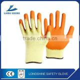 10G poly/cotton liner with Latex coated safety working glove