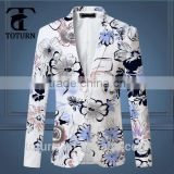 2016 trending products OEM Wholesale High Quality Slim Fit Print Fancy men's tailored blazer jacket                                                                         Quality Choice