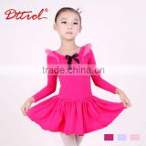 Sexy teen girls long sleeve ballet skirt fancy dress kids costumes ballroom dance dress