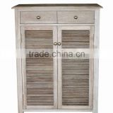 Antique Wooden Living room Two door & drawers Breathe freely ventilated Shoes cabinets(DT-1016-OAK)with window-shades design