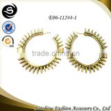 Hot products indian gold jewelry stinging gold hoop earrings wholesale pure gold jewelry