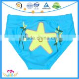 Lovely Embroidery Infant Swim Briefs Baby Swim Trunks Double Layers Toddler Swimwear