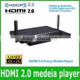 4k hdmi 2.0 media player HDMI Media Player Android 4.4 system streaming media 1 HDMI input 8 HDMI output with HDCP 2.2