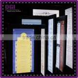 Faux leather menu cover illuminated led menu electronics light bar display stand menu led board