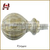 F725422 window resin plastic crystal glass resin finial
