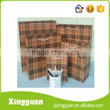 XG-OBG009 quality products kraft paper bag for food,kraft paper handle bag,kraft paper bag with clear window