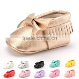 A-bomb New Arrival Microfiber Leather Baby girls shoes Baby Girls Soft Soled Tassel Bowknots Crib Prewalker Shoes