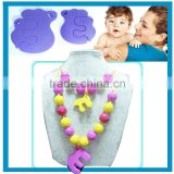 Eco-friendly Odorless Pendant Baby Teething Jewelry
