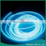 LED Flexible Lamp 3m 2-3mm Steel Wire Rope LED Strip Light With Controller Transparent Blue