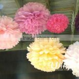 New Party Tissue Paper Pom Poms paper lamp shade paper ball