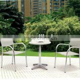 Aluminum rattan 2 chair + table set sale for modern life                                                                         Quality Choice