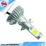 H7 Single Beam LED Headlight Kits 6000K Super Bright White 24W 3000LM High or Low Beam Bulb