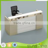 JB-RCT04 Sunshine Furniture Factory Manufacture Office Use Furniture Particle Board Small Reception Desk