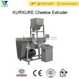 Automatic single screw extruder kurkure snacks machine from prefessional extruder manufacture