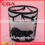 exquisite wholesale christmas handicrafts glass candle holder Christmas decoration Xmas gift