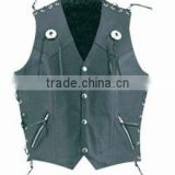 buffalo leather vest winter leather vest men leather biker vest , Men leather biker waistcoats