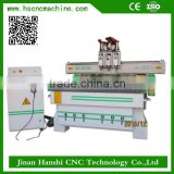 1300*2500 the best selling cnc series router woodworking machine price with 3 heads
