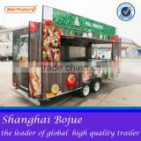 2015 hot sales best quality lunch food cart food cart with awning overseas food cart