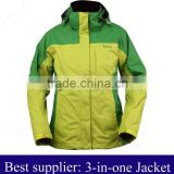 Ladies 3-in-1 jacket &ladies fashion winter garment                                                                         Quality Choice