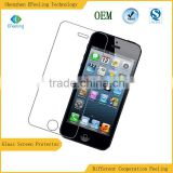 High Quality 2.5D Nano Tech 9H Hardness Premium Tempered Glass Screen Protector For Iphone 5 5S 5C
