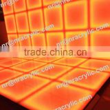 Shanghai event best selling portable LED illuminated color changing acrylic led dance floor wall
