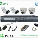 h.264 cctv camera dvr kit + 2pcs indoor and 2pcs outdoor camea + 4 rolls cable+ power supply and accessories (GRT-D3604EK5-4CT)