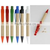 Eco-friendly Recycled Paper ball point pen with little container on top Pro pen manufacture
