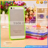 Acrylic Super Soft Transparent Case For Apple iphone 5 5S 6C 5SE Ultra Slim TPU Silicone Gel Cell Phone Back Cover
