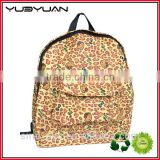 2016 Supplier custom unique pattern daily pack with pockets and compartments school bag backpack
