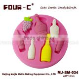 Assorted Bottlessilicone mold making rubber, silicone rubber for gypsum mold making,fondant art tools