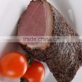 Frozen Skin-on Boneless Smoked Duck Breast Meat with Black Pepper