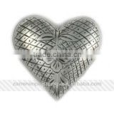 "Silver Antique Engraved 3"" Brass Heart Urn"