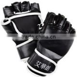 New leather MMA Muay Thai Training Punching Bag Half Mitts Sparring Boxing Gloves, PAYPAL ACCEPTED