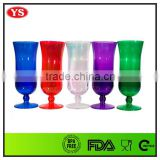 bpa free colored 15oz plastic hurricane glasses