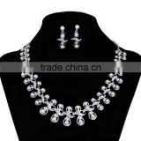 Indian artificial fashion pearl drop brdal earrings and necklace set,fashon bridal jewelry set