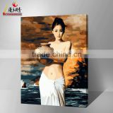 China hot sale for famous nude woman on canvas painting by number kits with high quality