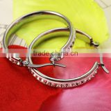 2016 new fashion simple classical design diamonds wholesales bulk silver hoop earrings