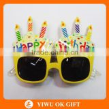 wholesale birthday party supplies sunglasses, happy birthday decoration, decorations birthday party supplies