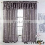 Latest design european embroidered sheer curtains