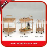 Hotel Trolley, Wooden Serving Trolley Cart, Wooden Tea Trolley Cart