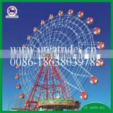 Hot sale family amusement park rides 30m ferris wheel with beautiful led lights for sale