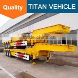 TITAN low bed semi trailer heavy trailer leaf spring semi trailer for sale