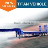 Titan heavy duty utility tri axle step deck trailer / low loader trailer / drop deck truck trailer
